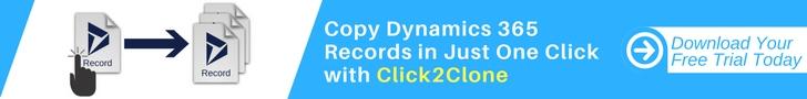 Click2Clone - Copy/clone Microsoft Dynamics CRM/Dynamics 365 records