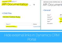 Hide external links in Microsoft Dynamics CRM Portal
