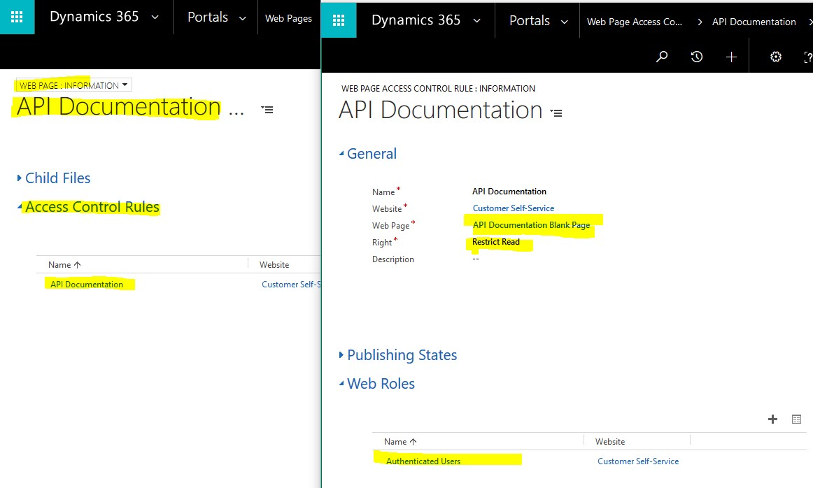 Hide external links in Microsoft Dynamics CRM Portal