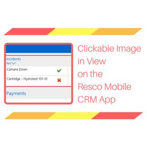 Clickable Image in View on the Resco Mobile CRM App