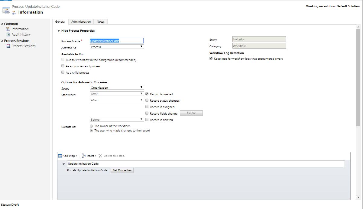 Microsoft Portal Configuration