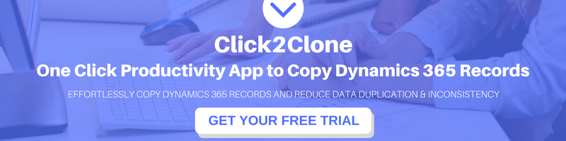 One Click Productivity App to Copy/clone Dynamics CRM/365 Records