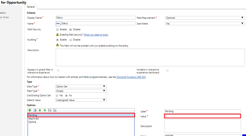 TIP: Setting Value for Option Set in OOB Workflow in Dynamics 365