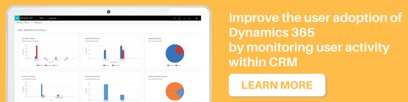 Improve the user adoption of Dynamics 365 by monitoring user activity within CRM
