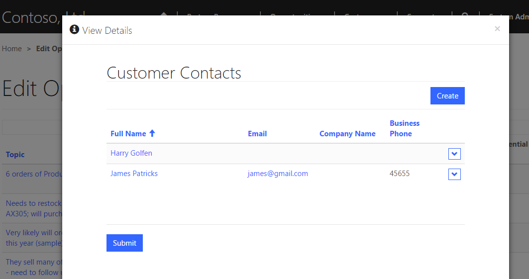 Configure Sub Grid from CRM forms in Dynamics 365 Portal