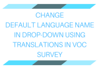 Change default language name in dropdown using translations in VOC Survey