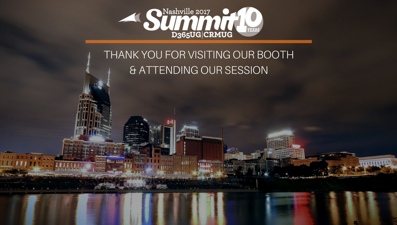 Thank you for interacting with us at CRMUG Summit Nashville