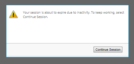 Setting Session Time Out in Dynamics CRM Online inactivity warning message