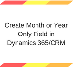 Create Month or Year Only Field in Dynamics 365