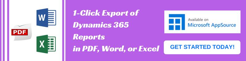 Export Dynamics CRM Reports