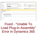 Unable To Load Plug-in Assembly
