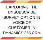 Survey Option in Voice of Customer