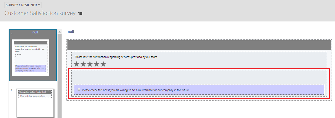 Hide the Question Text of checkbox for Voice of Customer in Dynamics 365
