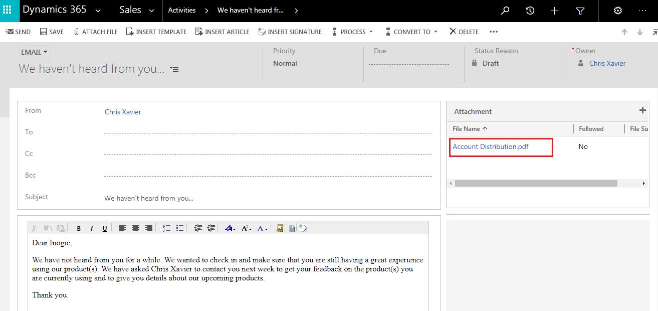 Attach to Email Dynamics CRM Report