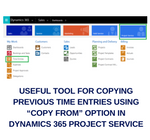 Useful tool for copying the previous time entries using copy from option