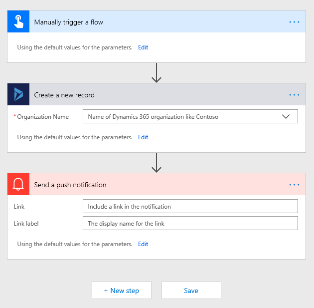 Create records in Dynamics CRM using Microsoft Flow
