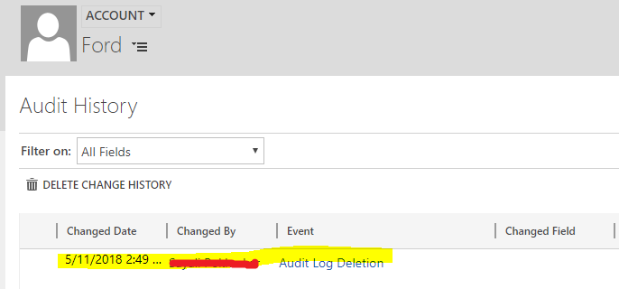 Deleting audit log in Dynamics 365