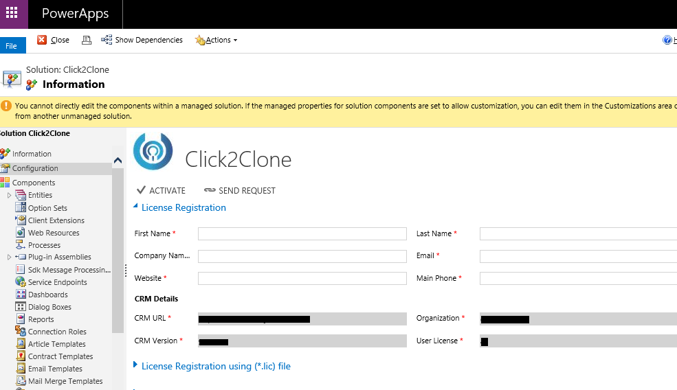 One Click Solution to Clone Dynamics 365 CRM Records