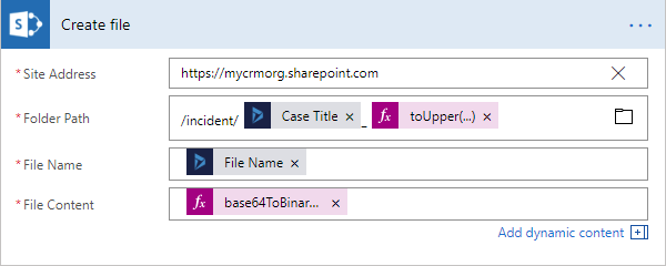 Recurring Microsoft Flow for moving Email Attachment from Dynamics 365 to SharePoint