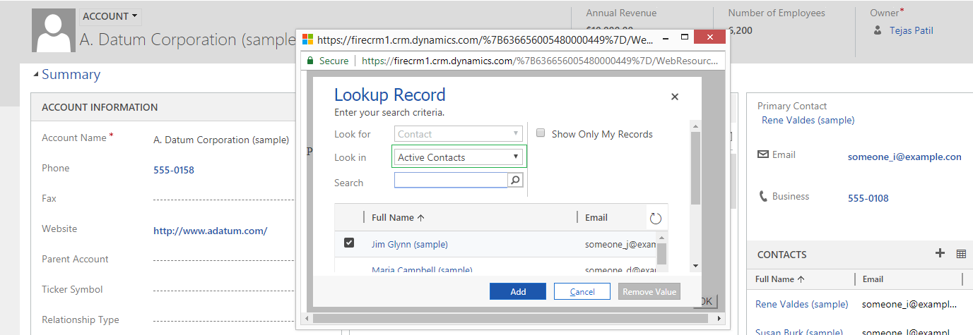 3Show Lookup Dialog – Microsoft Dynamics 365 CRM Tips and Tricks