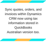 Integrate Dynamics CRM Online QuickBooks