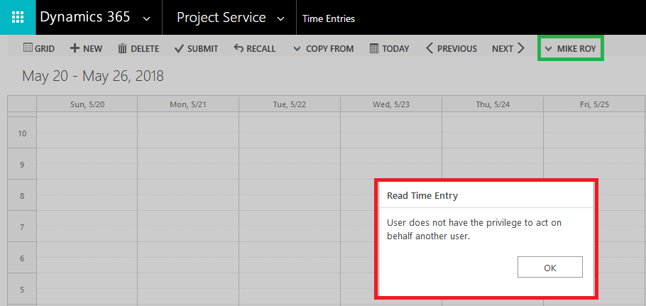 Submitting Time Expense entries8