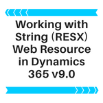 Working With RESX webresoure