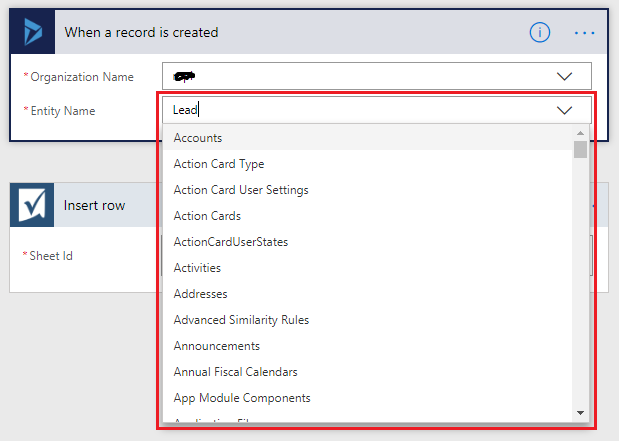 Update Smart Sheet at the time of Entity records creation in Dynamics 365