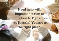 implementation or migration to Dynamics 365 Portals