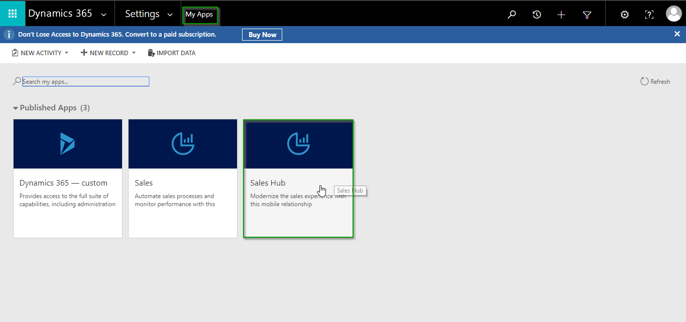 manage security roles for Apps in Dynamics 365