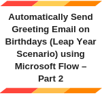 Quick Tip - Sending Birthday wishes to Contacts