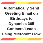 Send Email on birthdays