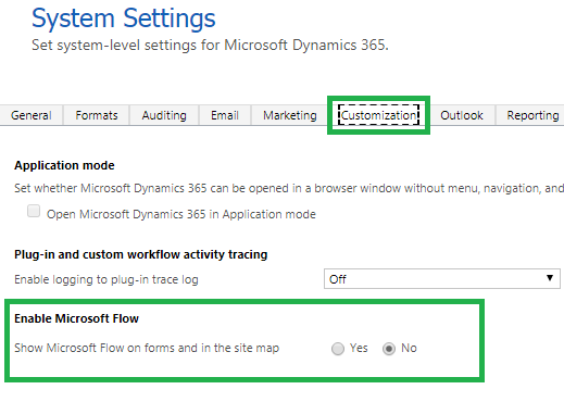 Show Or Hide Microsoft FLOW button in Dynamics 365