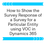 How to show the survey responses of a Survey