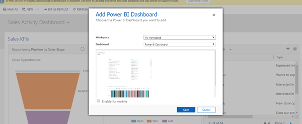 Make Power BI report using data from Azure SQL server and view in Dynamic 365