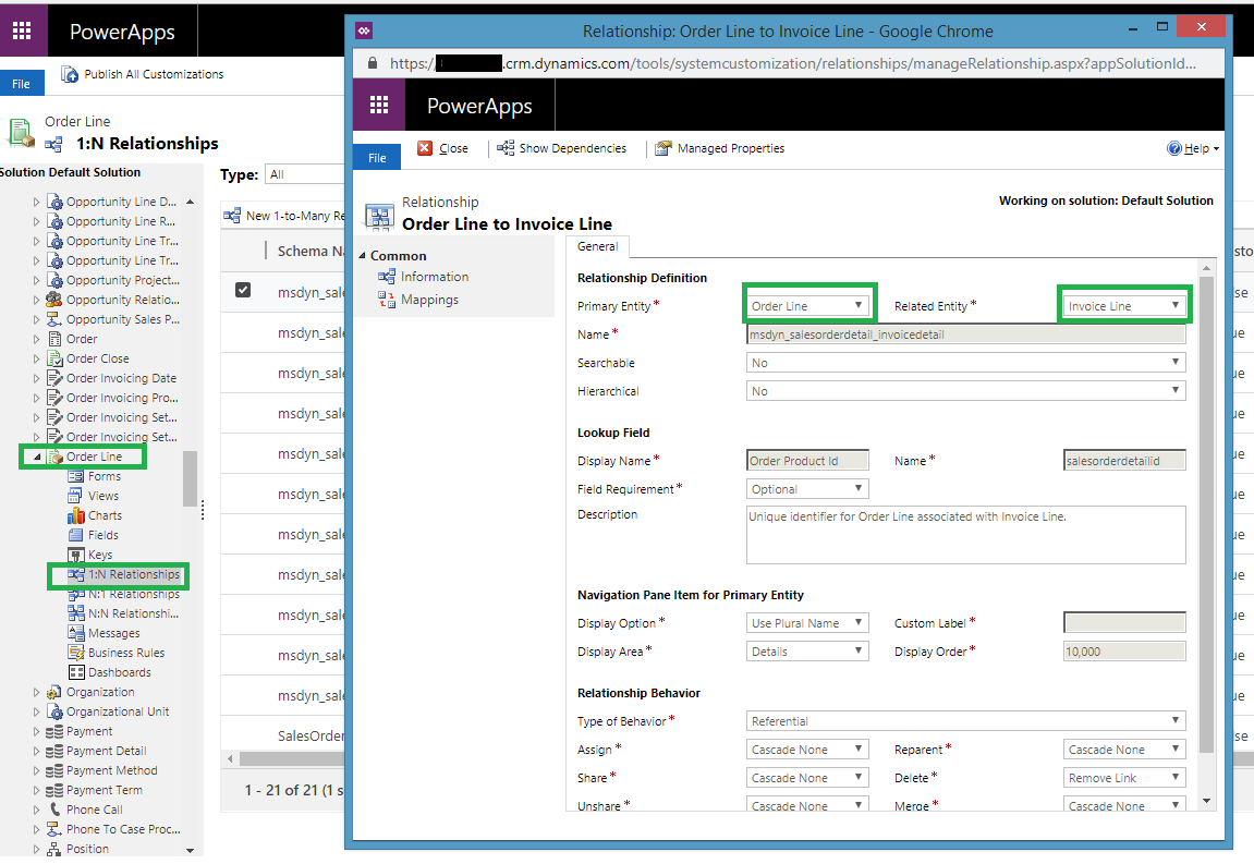 Relationship between Order Line and Invoice Line in Dynamics 365 CRM