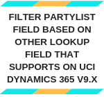 Filter PartyList Field based on other lookup field that supports