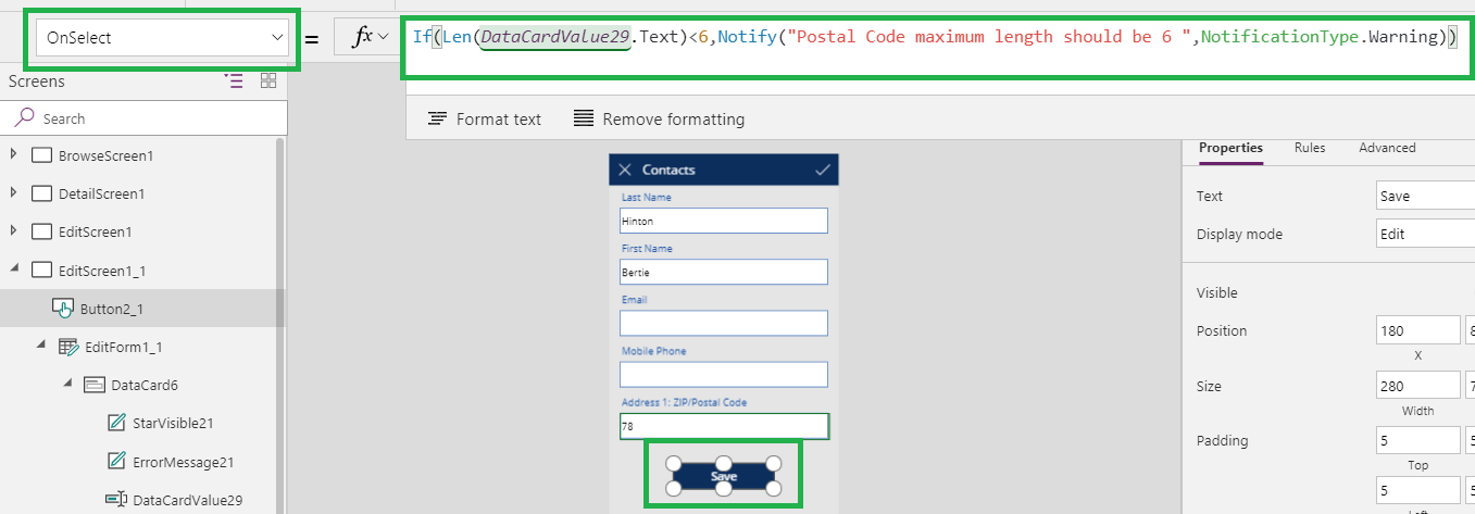 Notify functions in Canvas Power App | Microsoft Dynamics 365 CRM