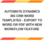 Export Dynamics CRM Word Template
