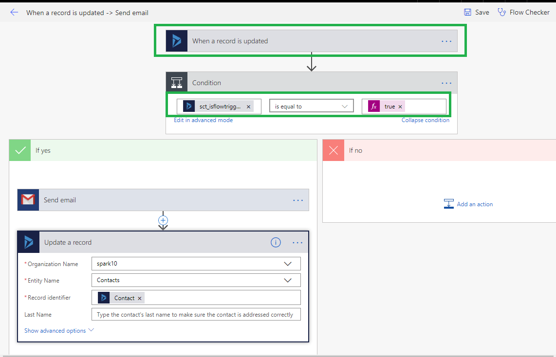 Trigger Microsoft Flow on click of custom ribbon button in Dynamics 365