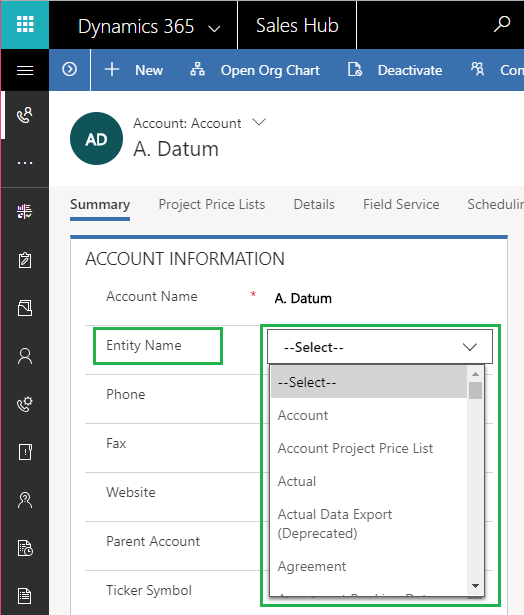 Easily Show List of Entities as an Option Set on UCI Dynamics 365