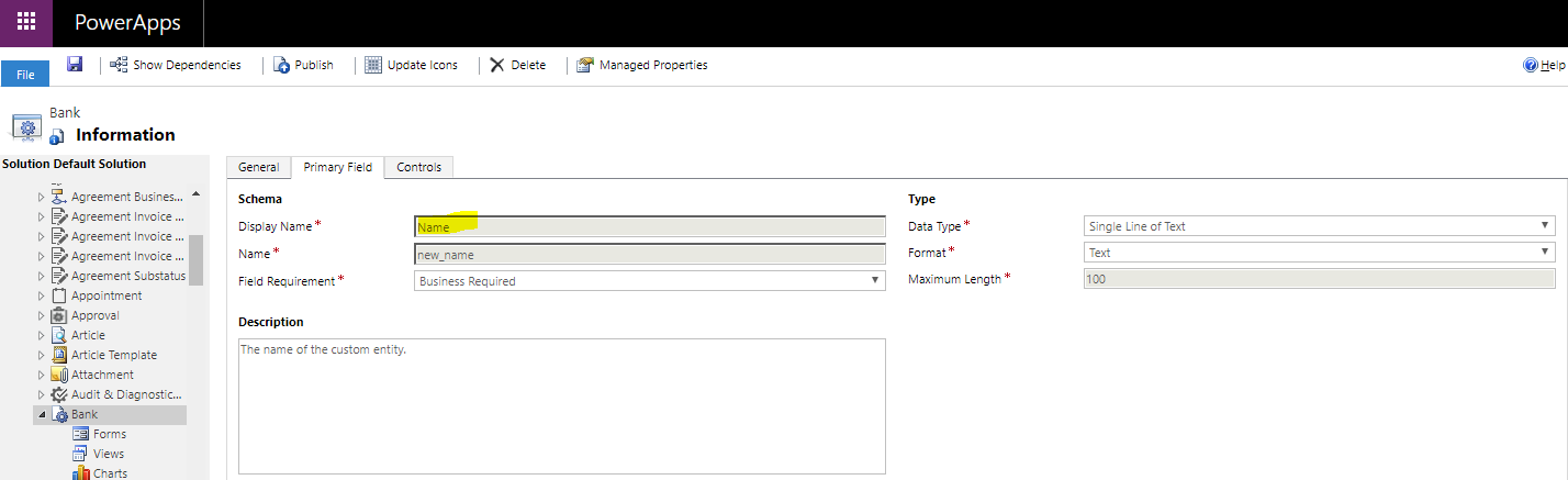 Record name missing from lookup fields in Dynamics 365 Unified Interface
