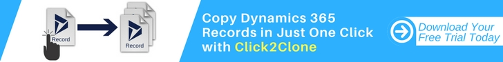 Clone Dynamics 365 CRM Records