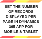 Set the number of records per page on V9 Mobile Client