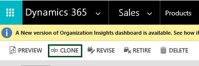 Cloned Product In Microsoft Dynamics 365 CRM
