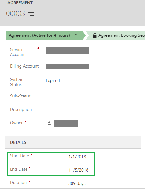 Copy Agreement ribbon button on Agreement entity in Dynamics 365 for Field Service