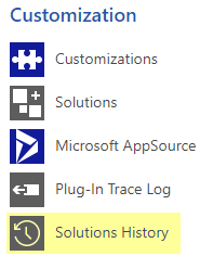 Solutions History Entity in Dynamics 365 CRM