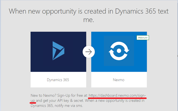 Send SMS to user when a new record is created in Dynamics 365 CRM using Nexmo