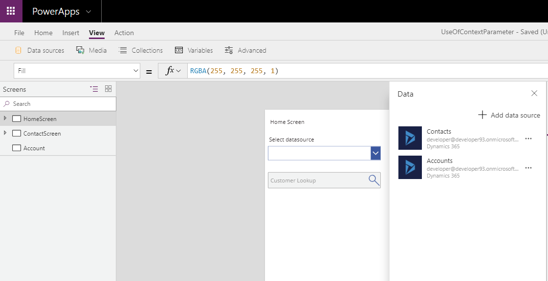 Create Customer Lookup in PowerApps using Data Context | Microsoft