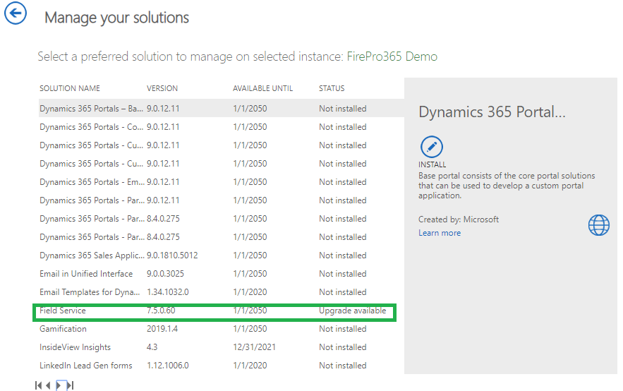 Upgrade Runs Entity in Dynamics CRM 365